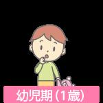 幼児期(1歳)